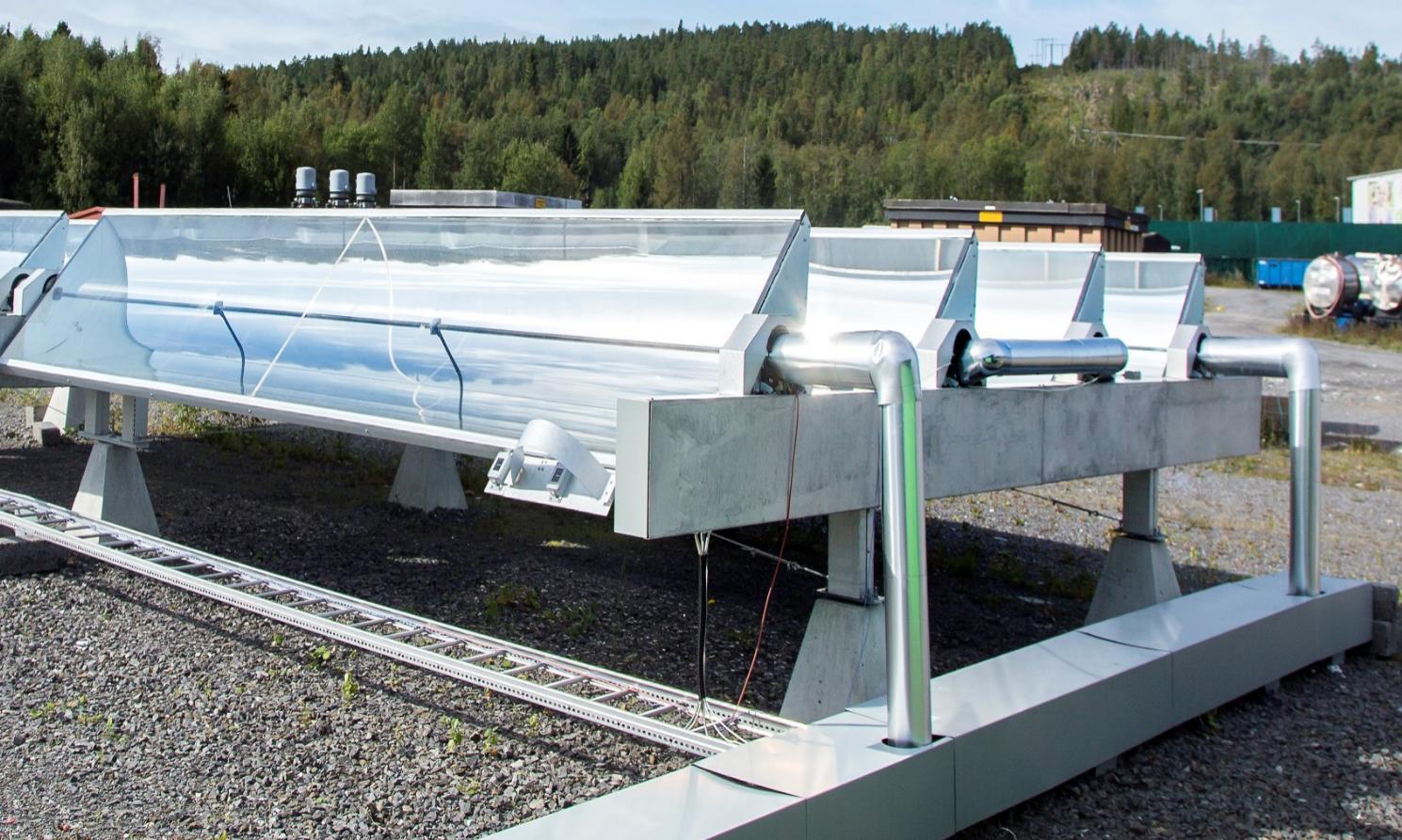 小型槽式太阳能集热器模块